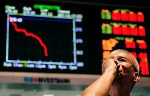 На биржах мира резкое падение курса ценных бумаг