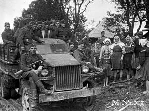 Машины союзников, на которых солдаты СССР приближались к победе
