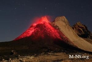 В Германии зажгли единственный в мире вулкан