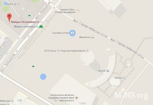 Na google-karte Kieva poyavilas' ulica Geroev Nebesnoi sotni